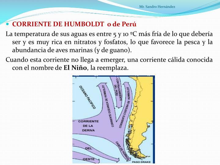CORRIENTE DE HUMBOLDT  o de Perú
