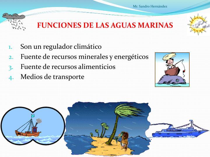 FUNCIONES DE LAS AGUAS MARINAS