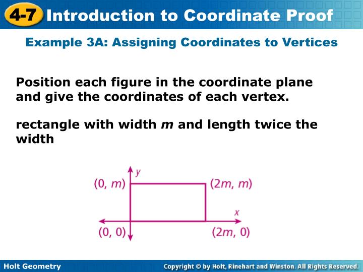 Example 3A: Assigning Coordinates to Vertices