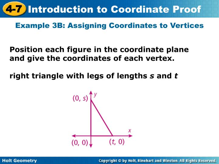 Example 3B: Assigning Coordinates to Vertices