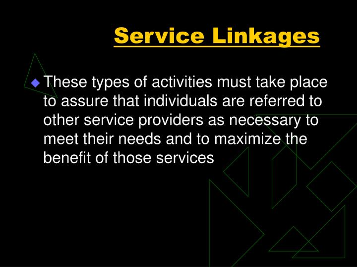 Service Linkages