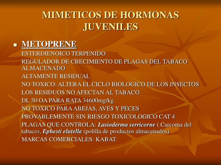 MIMETICOS DE HORMONAS JUVENILES
