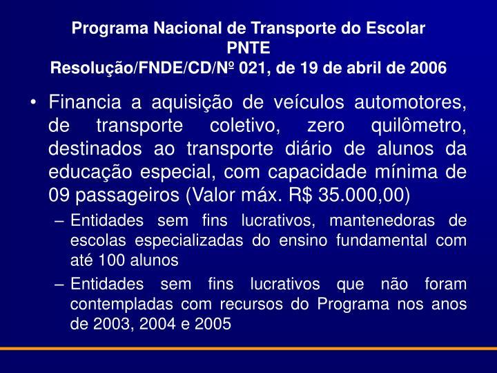 Programa Nacional de Transporte do Escolar
