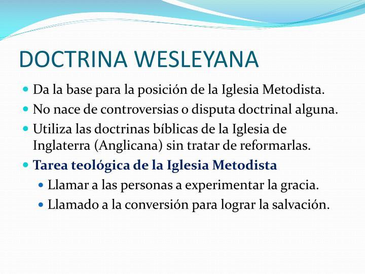 DOCTRINA WESLEYANA