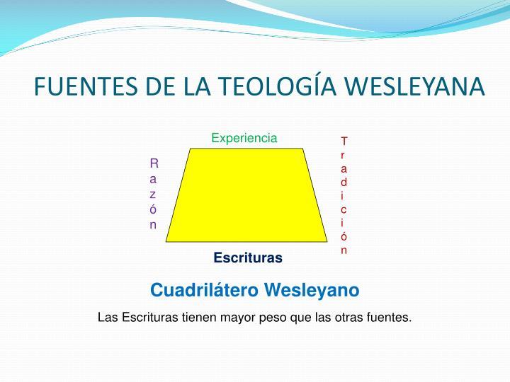 FUENTES DE LA TEOLOGÍA WESLEYANA