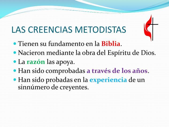 LAS CREENCIAS METODISTAS