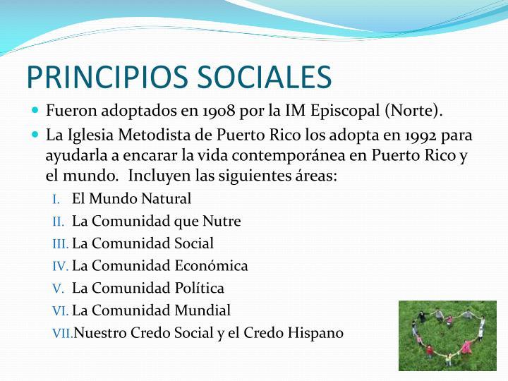 PRINCIPIOS SOCIALES