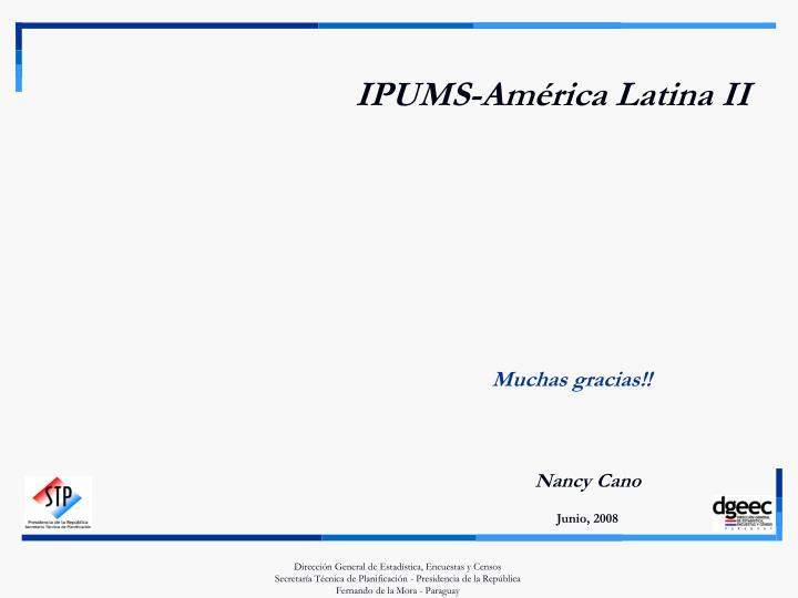 IPUMS-América Latina II
