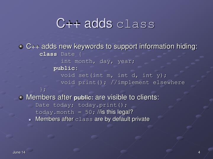 C++ adds