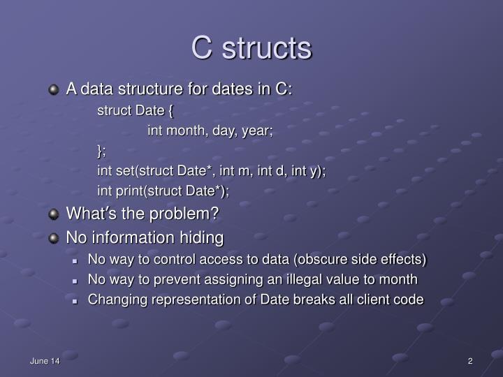 C structs