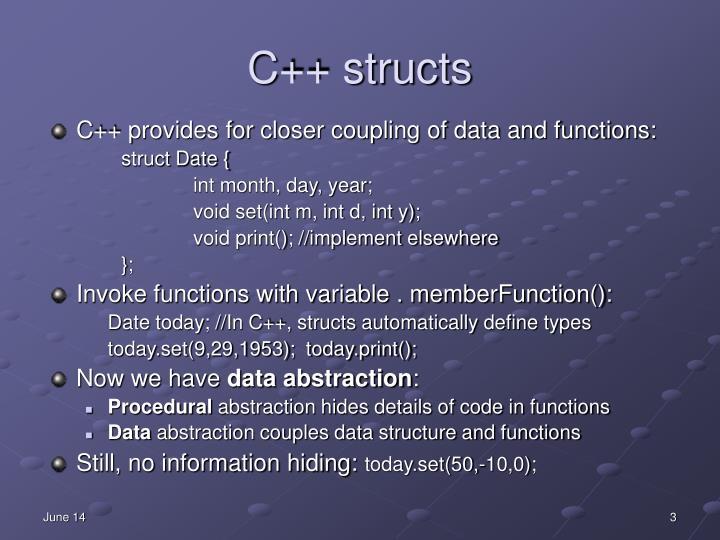 C++ structs