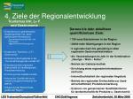 4 ziele der regionalentwicklung