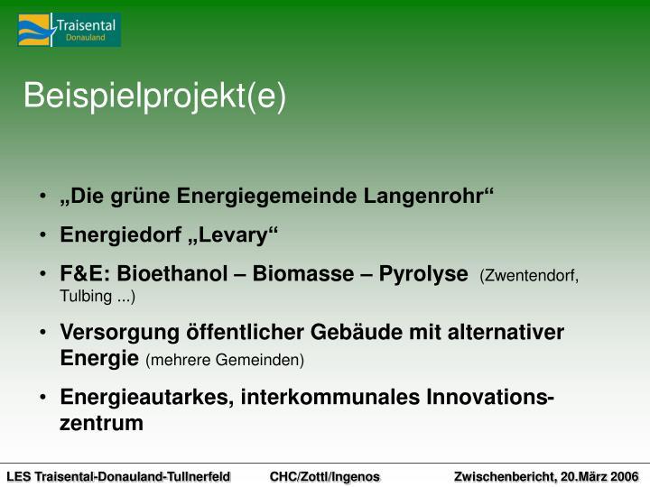 Beispielprojekt(e)