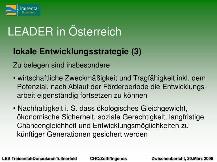 LEADER in Österreich