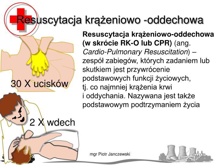 Resuscytacja krążeniowo -oddechowa
