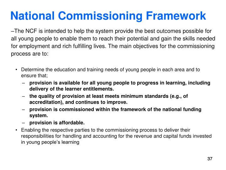 National Commissioning Framework