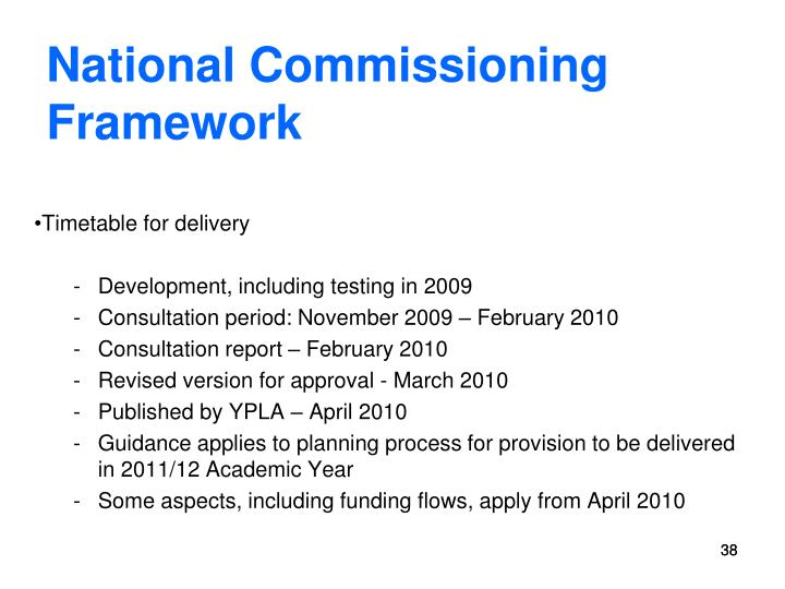 National Commissioning