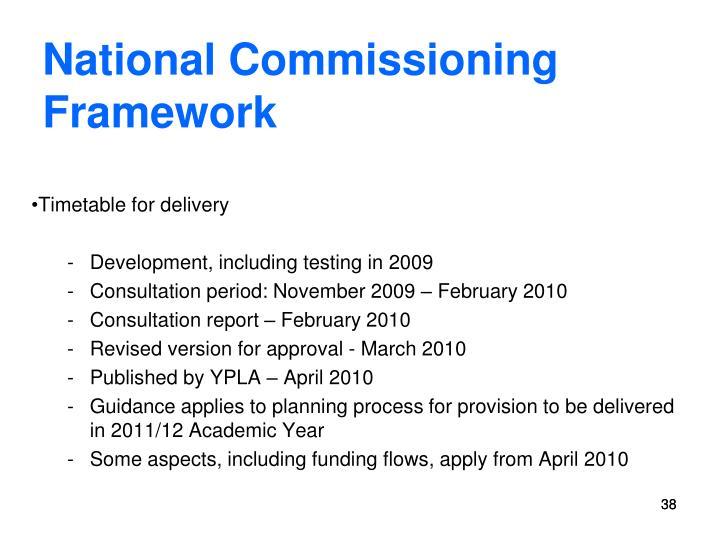 National Commissioning