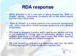 rda response
