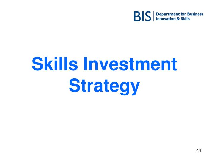 Skills Investment Strategy