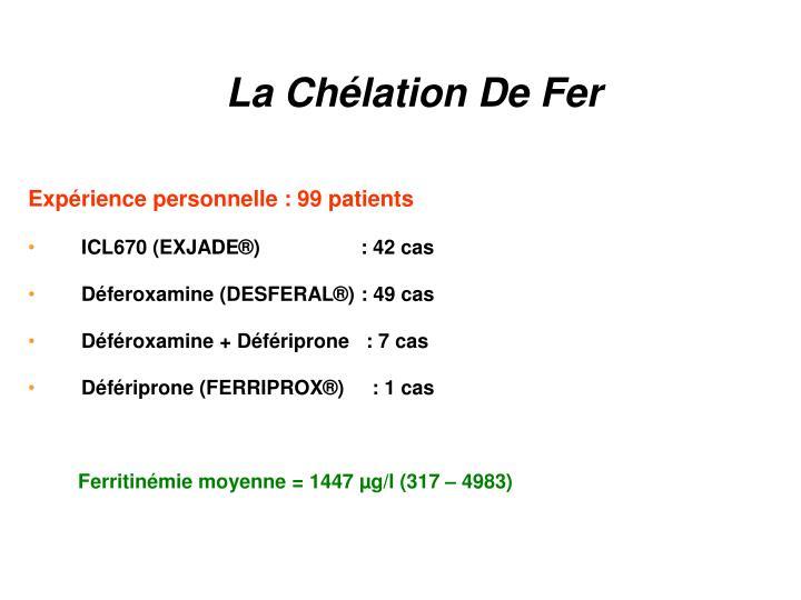 La Chélation De Fer