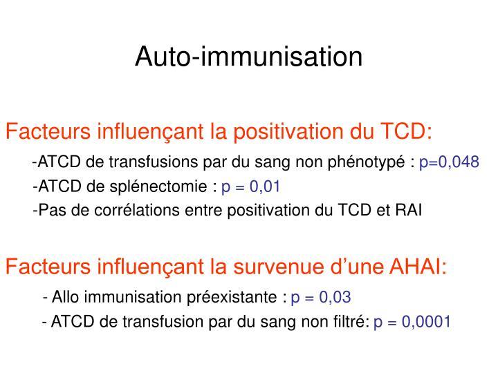 Auto-immunisation