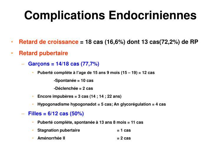 Complications Endocriniennes