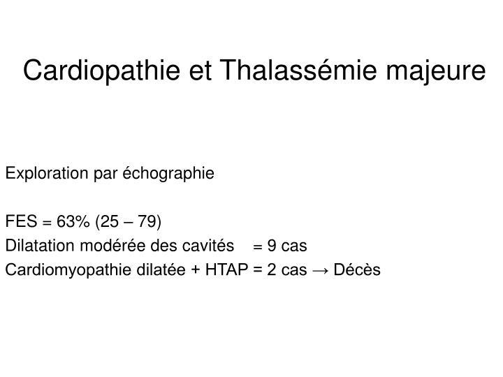 Cardiopathie et Thalassémie majeure