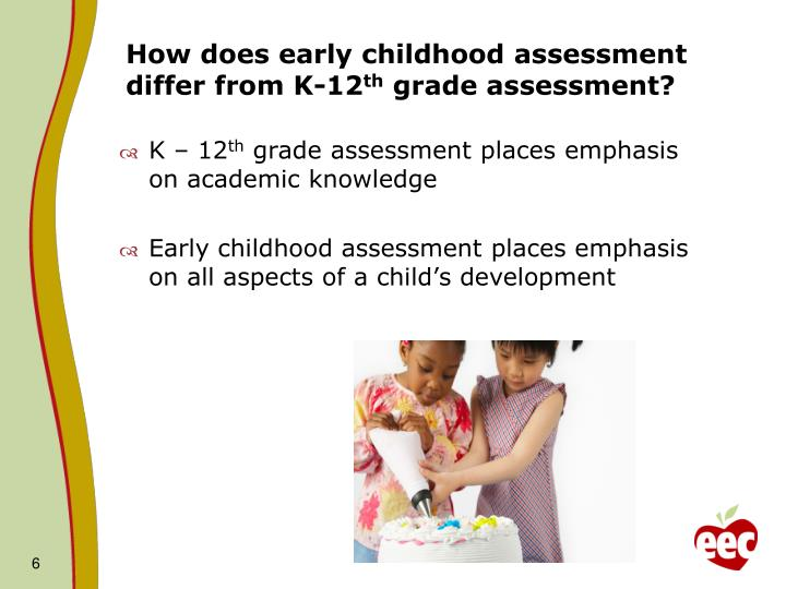 How does early childhood assessment