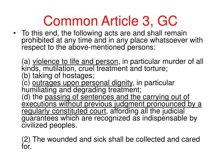 Common Article 3, GC