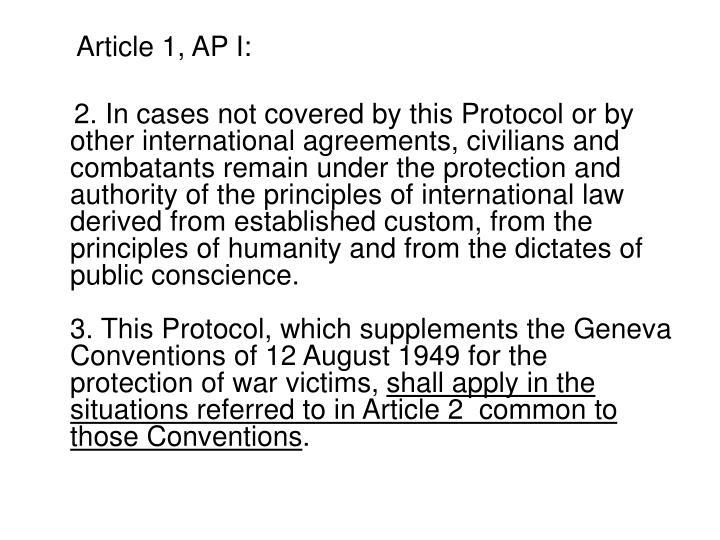 Article 1, AP I: