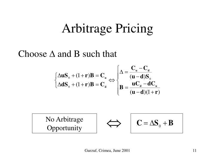 No Arbitrage Opportunity
