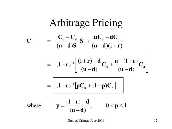 Arbitrage Pricing