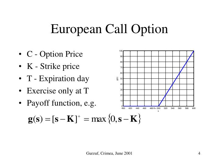 C - Option Price