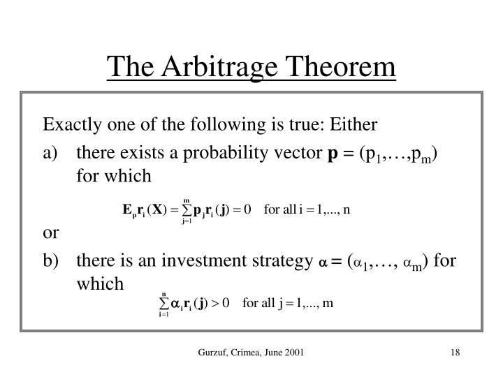 The Arbitrage Theorem