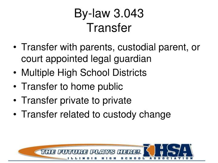 By-law 3.043