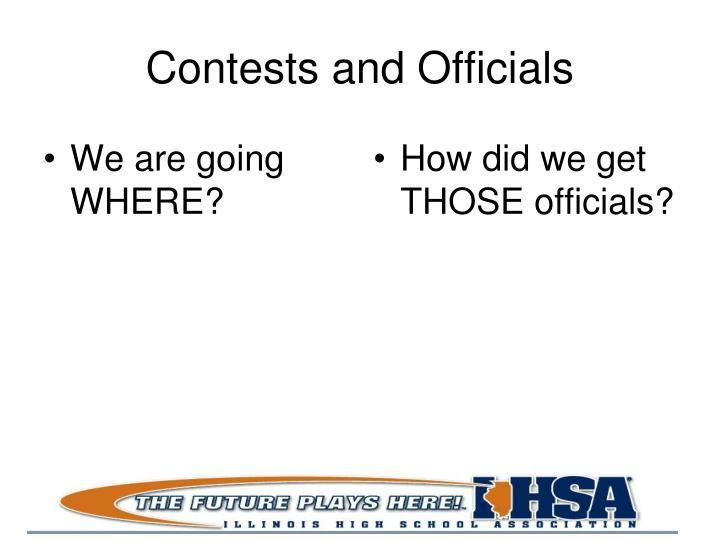 Contests and Officials
