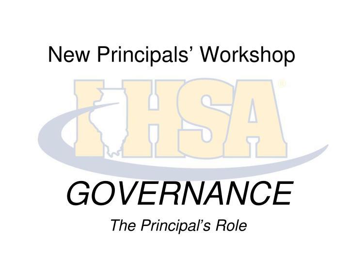 New Principals' Workshop