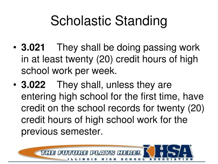 Scholastic Standing