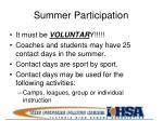 summer participation