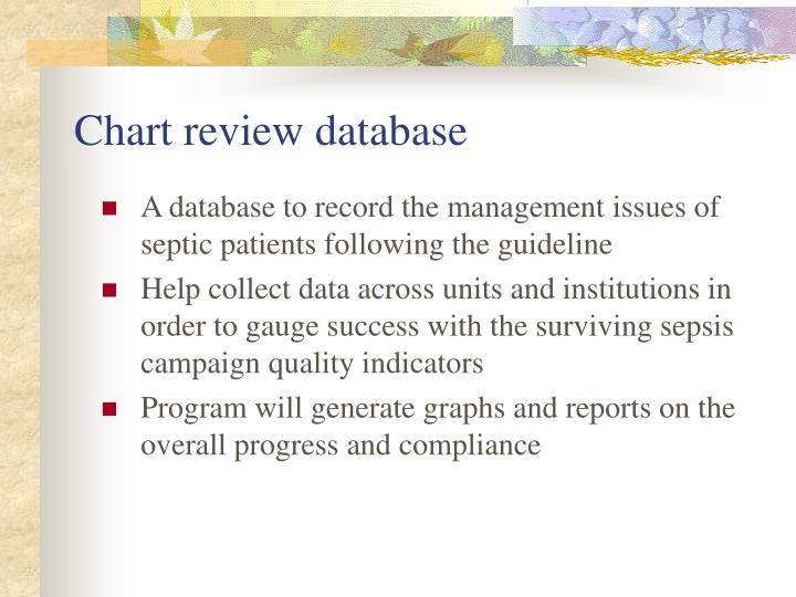 Chart review database