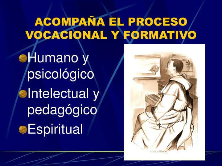ACOMPAÑA EL PROCESO VOCACIONAL Y FORMATIVO