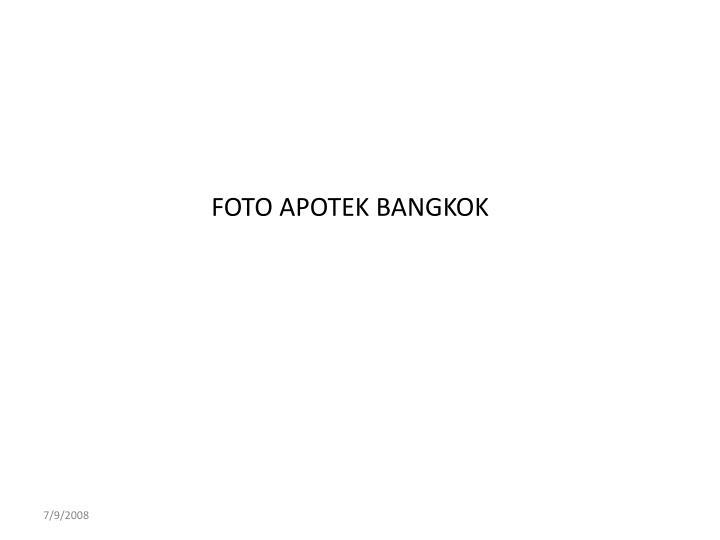 FOTO APOTEK BANGKOK