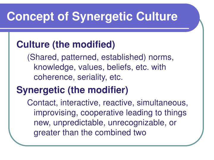 Concept of Synergetic Culture