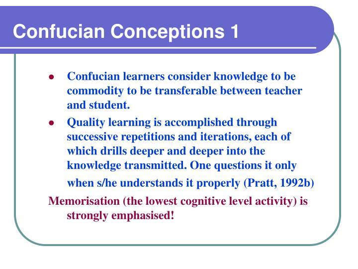 Confucian Conceptions 1