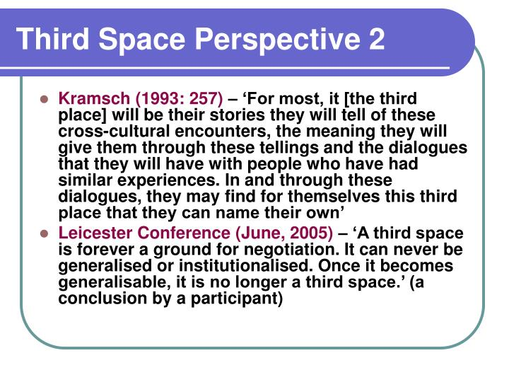 Third Space Perspective 2