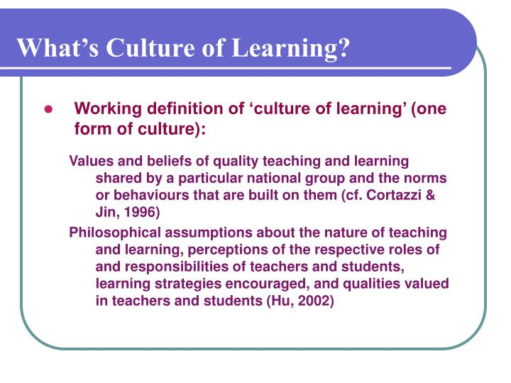 What's Culture of Learning?