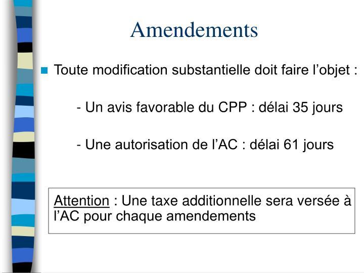 Amendements