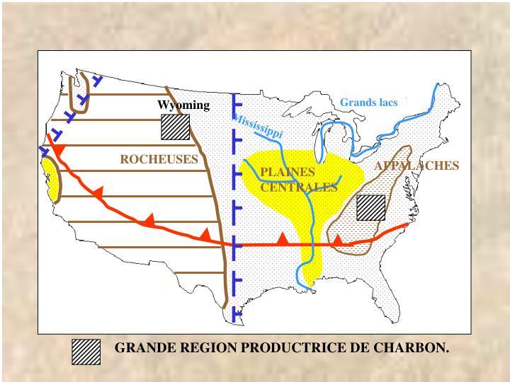 GRANDE REGION PRODUCTRICE DE CHARBON.