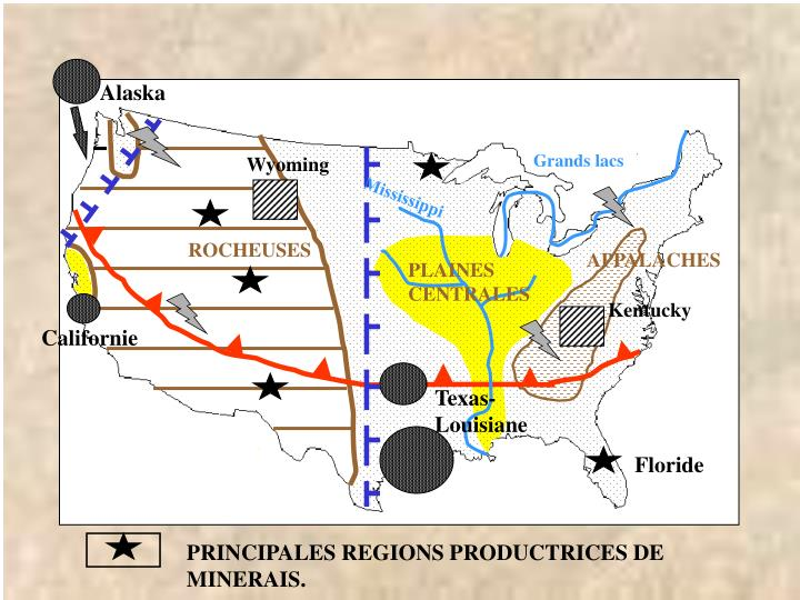 PRINCIPALES REGIONS PRODUCTRICES DE